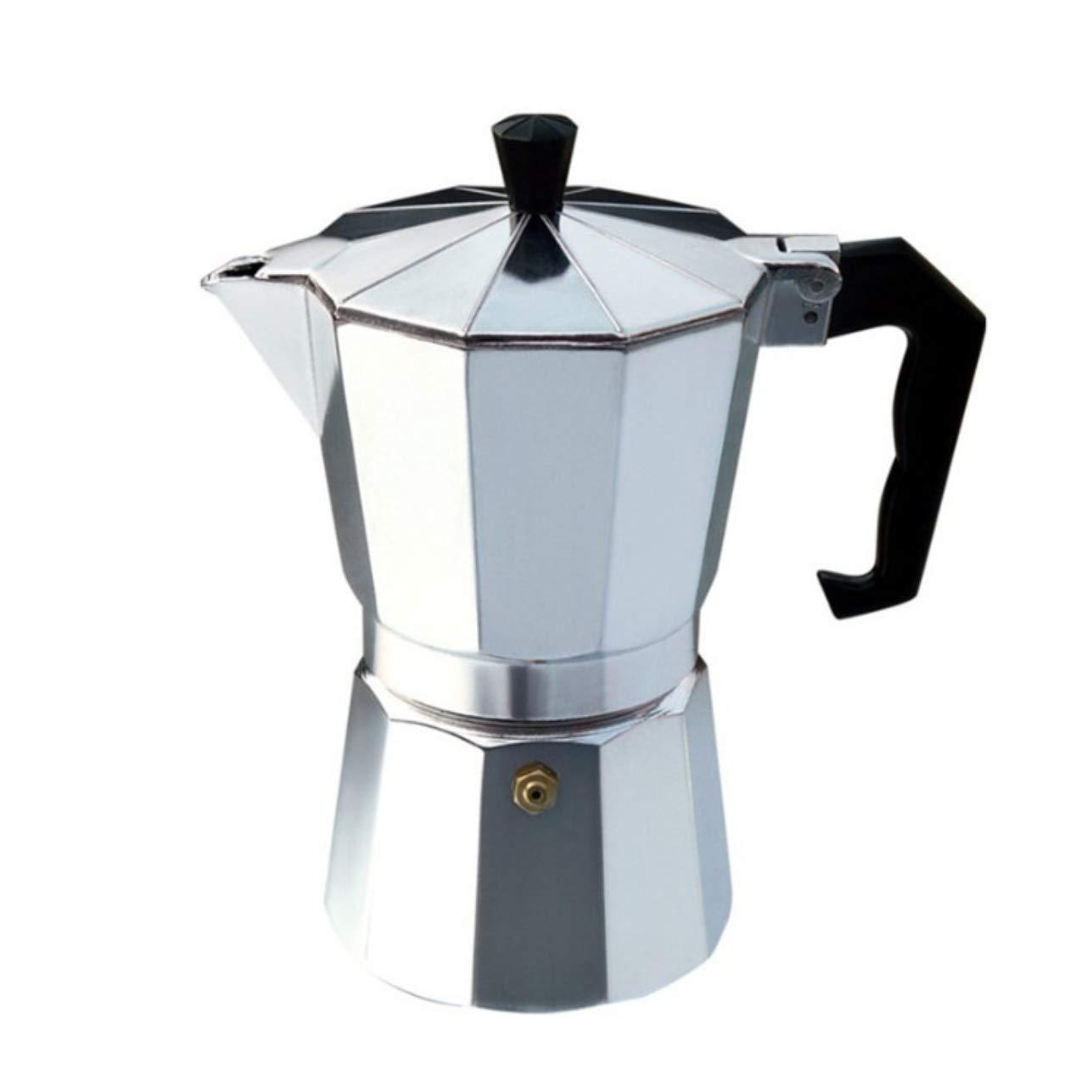 Acquisto Meccion – Caffettiera da 6 tazze, in alluminio, 300 ml 9 Cup (450ml) Silver Prezzi offerta