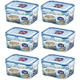 (Pack of 6) LOCK & LOCK Airtight Rectangular Food Storage Container 15.89-oz / 1.99-cup
