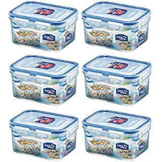 Lock And Lock HPL807 Food Container Rect 470 Millilitres Set Of 6