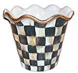 MacKenzie-Childs Courtly Check Hors D'oeuvre Tray - Serving Salver - Handcrafted in Aurora - Black and White - 5'' wide, 18'' long, 2'' tall
