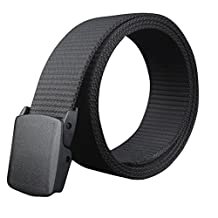 Susenstone Wild-Men-Canvas-Belt-Hypoallergenic-Metal free-Plastic-Automatic-Buckle