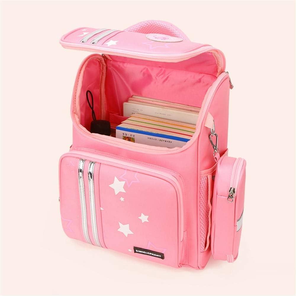 JIUFENG Kids Schoolbag Cute Girls Backpack with Stationery Bag Lightweight Travel Daypack Rose