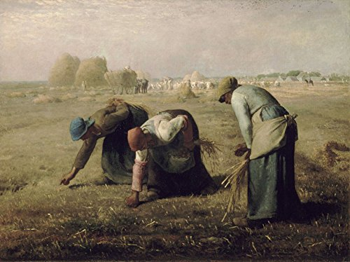 Get Custom Art Jean-Francois Millet - The Gleaners, Size 18x24 inch, Poster art print wall décor