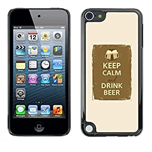 Plastic Shell Protective Case Cover    Apple iPod Touch 5    Drink Beer Party Fraternity @XPTECH