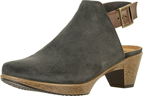 NAOT Footwear's Women's Upgrade Oily Midnight Suede/Walnut Lthr Clog 9 M US