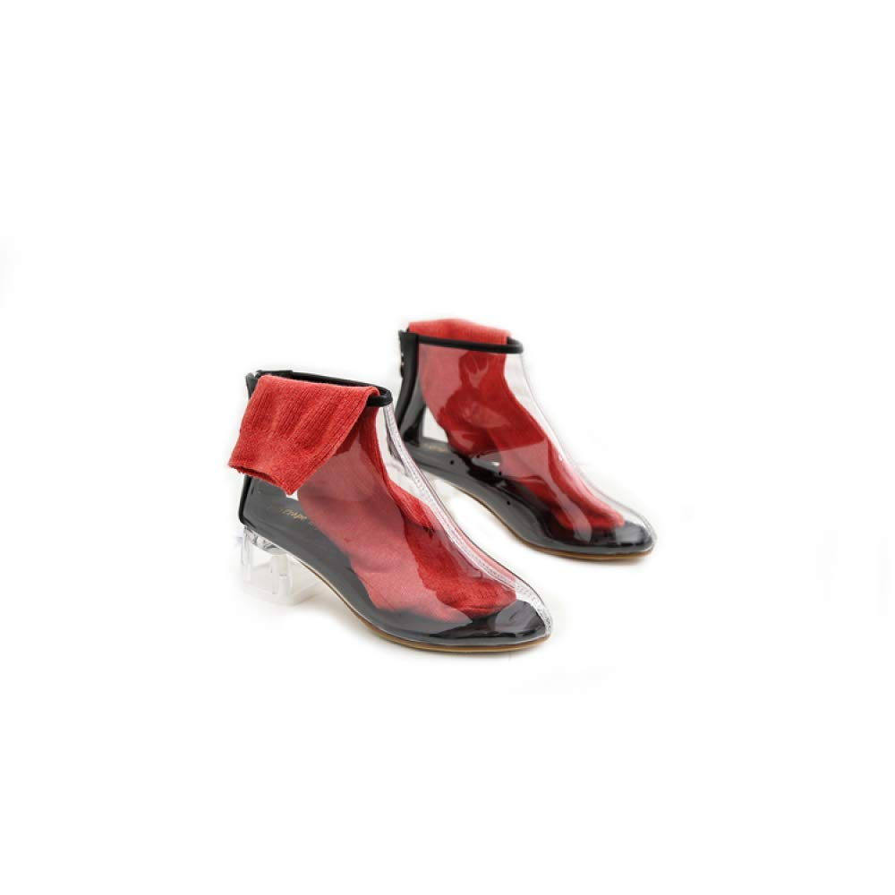 Moontang Stiefel Herbst Damenschuhe Matte Leder Stiefelies dick mit Overknee-Stretch-Stiefel, Overknee-Stretch-Stiefel, Overknee-Stretch-Stiefel, Damen hochhackige Stiefel, schwarz (Farbe   Aprikose, Größe   38) c60c4f