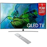 Samsung QN65Q8C Curved 65-Inch 4K Ultra HD Smart QLED TV (2017 Model) with 1 Year Extended Warranty