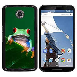 PC/Aluminum Funda Carcasa protectora para Motorola NEXUS 6 / X / Moto X Pro Cool Happy Tree Frog / JUSTGO PHONE PROTECTOR