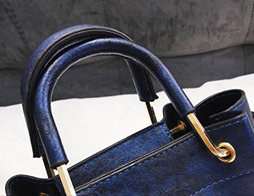 de del manera la de Black cubo bordada Bolso hombro la las de insignia la elefante bolsa mujeres diagonal de la de manija de doble pequeña de Bolso vendimia 6fqSXX