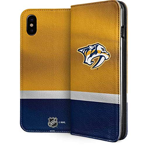 (Skinit Nashville Predators iPhone Xs Max Folio Case - Officially Licensed NHL Phone Case - Vegan Faux-Leather Wallet iPhone Xs Max Cover)