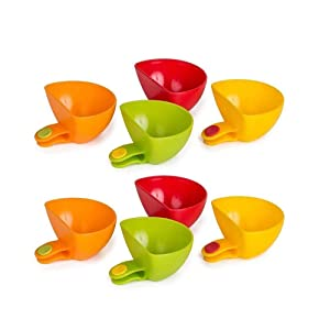 Dip Clip Bowl Plate Holder -8pcs Color Plastic Dish Chip And Dip Serving Set For Spice Tomato Sauce Salt Veggie Vinegar Ketchup Chips - Chip Clips Holders Cup Paper Plate Holder Condiment Cups Dipping