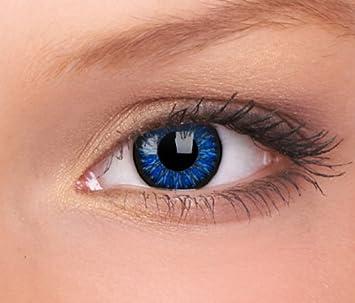 exzellente Qualität 2020 heiße neue Produkte Farbige Kontaktlinsen blau - ohne Stärke - AQUA blue - für helle & dunkle  Augen - gratis Kontaktlinsenbehälter - zwei meeresblaue Linsen