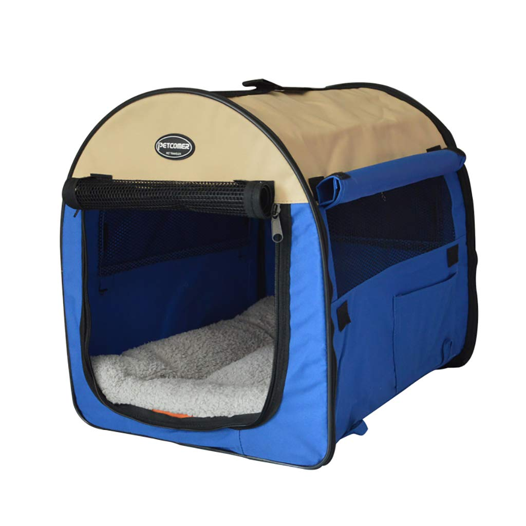 L-A Pet Tent Soft Fabric Portable Foldable Pet Dog Cat Puppy Playpen, Indoor Outdoor Use Pet Kennel Cage Black