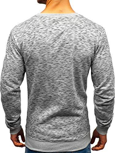 Rond Imprimé 22009 Travers À Homme Capuche Style Sweatshirt Sans Le Bolf Gris Sportif 1a1 Inséré La Tête Col wx4qOpxtnY