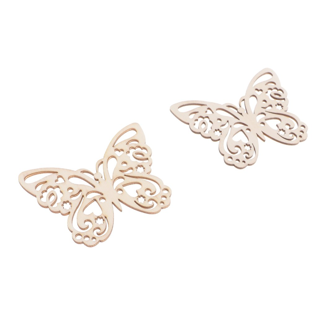 10pcs Wooden Butterfly Bee Dragonfly Snail Gift Hanging Tags Party Favor Labels