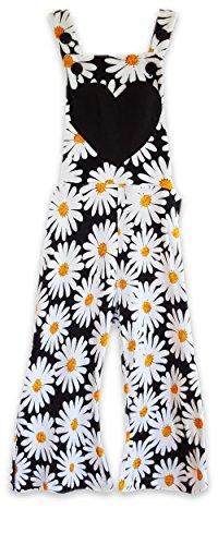 Alice + Eddie Boy & Girl Preschool Overalls - Adjustable Straps - Flower Print (5T)