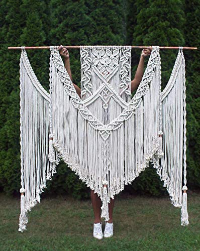 knittworld Bohemian Macrame Wall Hanging Boho Chic Style for Home Decor & Wedding Decoration Art 62