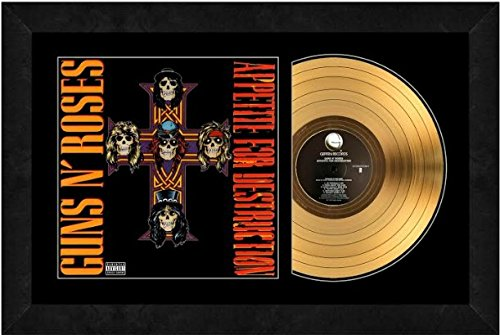 Photo File Appetite for Destruction by Guns N' Roses 24kt Gold Record (Size: 17