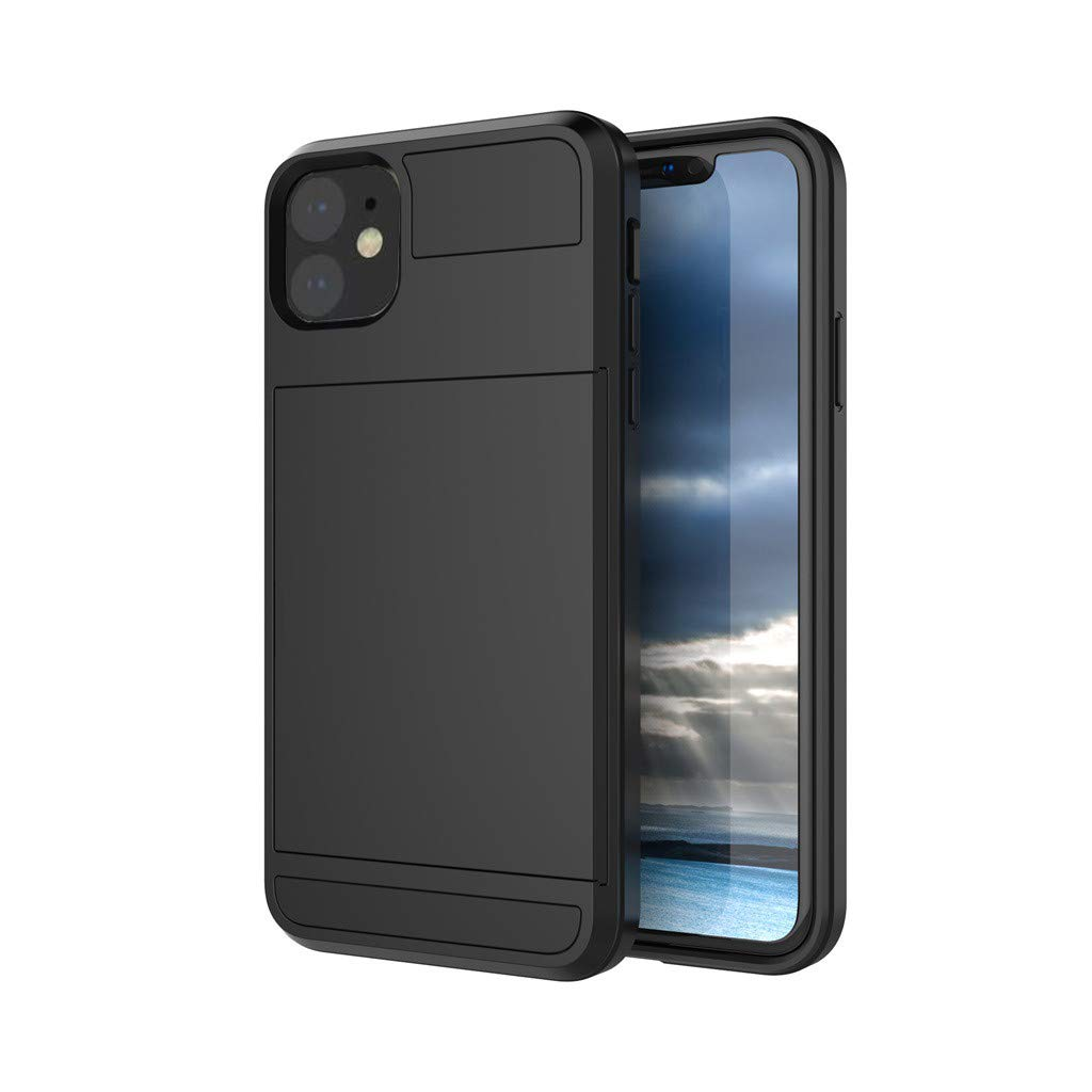 Card Slot Shockproof Wallet Case Protection Card Holder Rubber Bumper Protective Cover Credit Card Case for Apple iPhone 11 Series 2019 New Yuege Case for iPhone 11//Pro//Pro Max