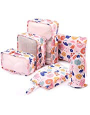 6 Set Packing Cubes - Travel Organizers with Laundry Bag