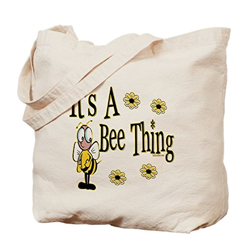 CafePress–abeja Thing.–gamuza de bolsa de lona bolsa, bolsa de la compra Medium caqui
