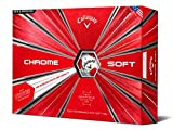 Callaway Golf Chrome Soft Truvis Golf Balls, (One Dozen), White/Red