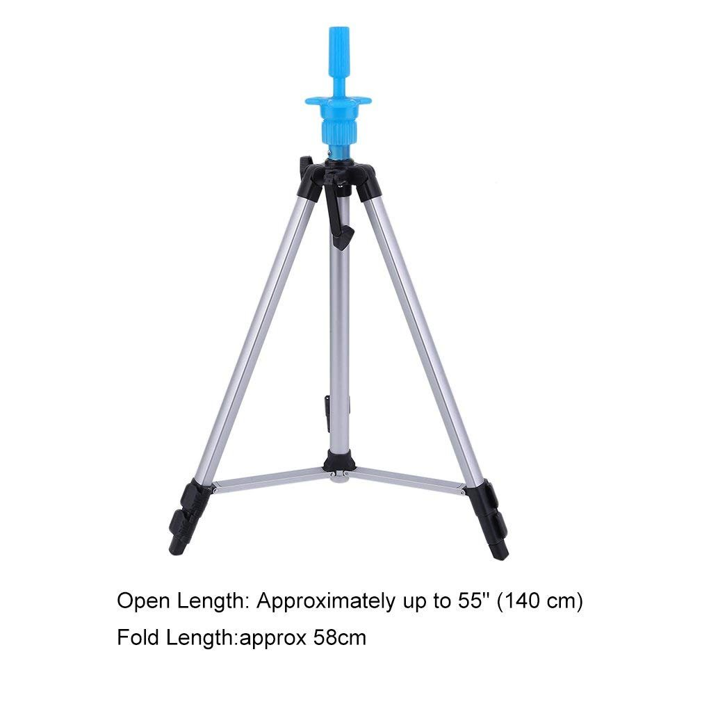 Head Stand Tripod Wig Mannequin Head Tripod Stand Portable 55'' Aluminum Alloy Adjustable Head Holder Tripod Stand with Carry Bag