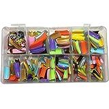 AORAEM 500 Pcs 12 Color French False Acrylic Gel Nail Art Tips Half with Box