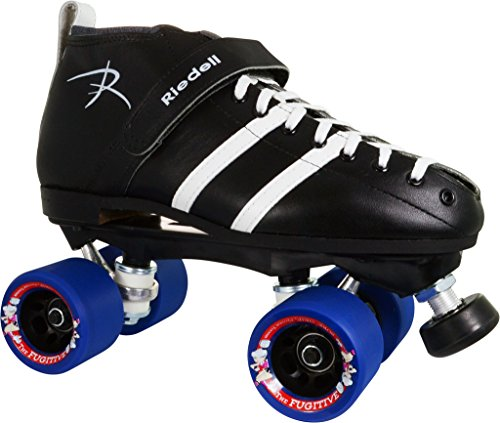 Skate Out Loud Riedell 265 Vandal with Blue Fugitive Wheels