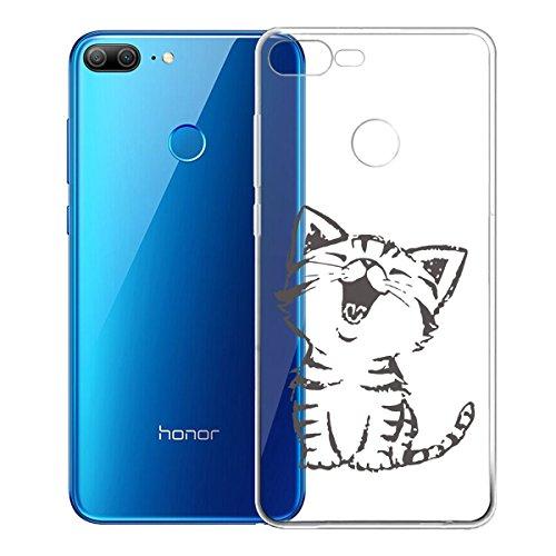 Funda para Huawei Honor 9 Lite , IJIA Transparente Verde Pequeño Cute Pet TPU Silicona Suave Cover Tapa Caso Parachoques Carcasa Cubierta para Huawei Honor 9 Lite (5.65) WM90