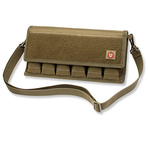 Orca Tactical Gun Pistol Magazine Storage Pouch 12 Single and 6 Double Stack Ammo Mag Holder (Pouch Only) (OD Green)