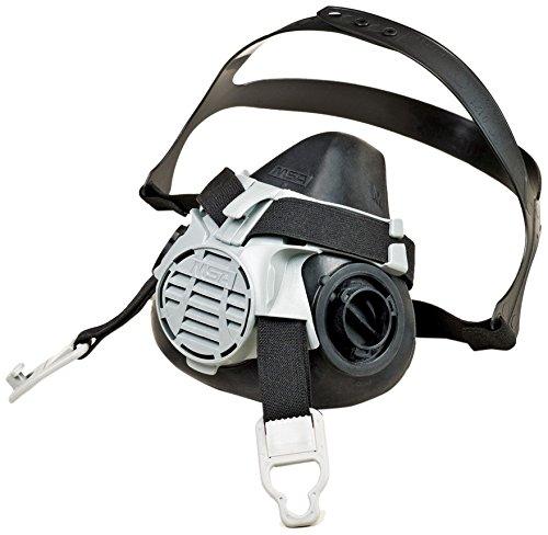 MSA 10102183  Advantage 420 Twin-Port Half Mask Respirator, Medium, Black/Grey