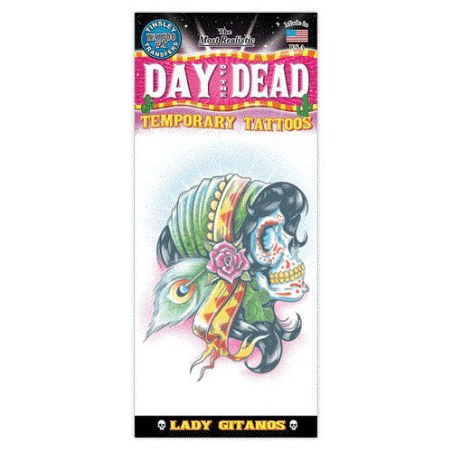 Day Of The Dead Design Temporary Tattoo- Lady Gitanos