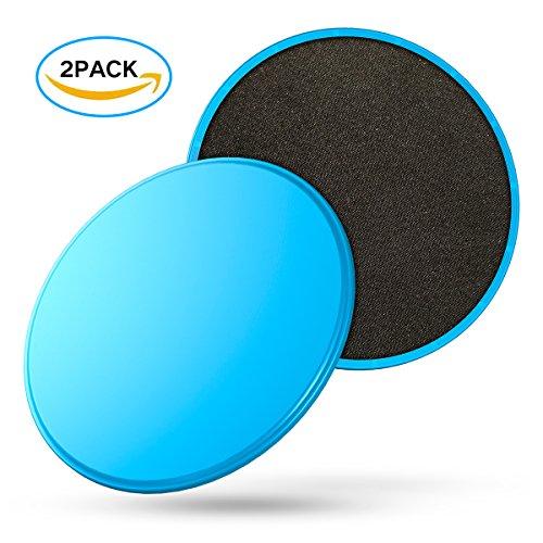 UPC 654070961855, Exercise Core Sliders -sliding Discs, set of 2 Gliding Discs - Dual Sided for Carpet or Hardwood Floors - Carpet and Hardwood Floors Home Abdominal Exercise Equipment