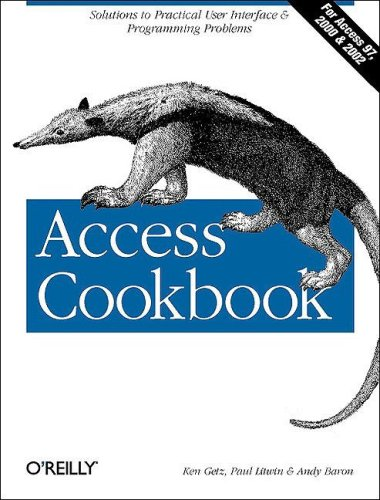 Access Cookbook (O'Reilly Windows)