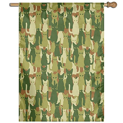 HUANGLING Soldier Kittens Protective Cat Army Theme Defense Jungle Colors Military Home Flag Garden Flag Demonstrations Flag Family Party Flag Match Flag 27''x37'' by HUANGLING