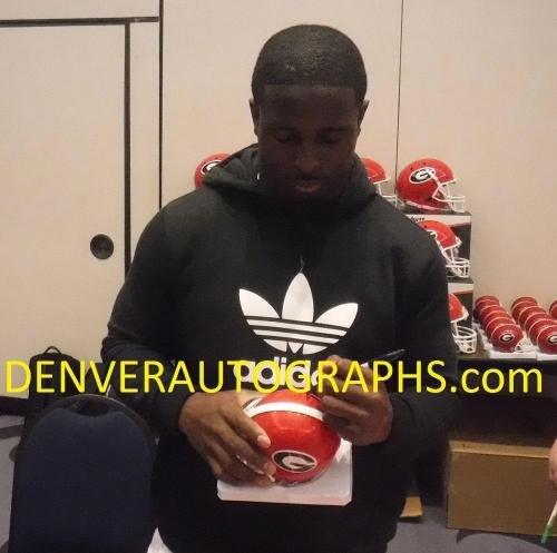 Sony Michel Autographed/Signed Georgia Bulldogs Mini Helmet 12959 JSA Certified Autographed College Mini Helmets