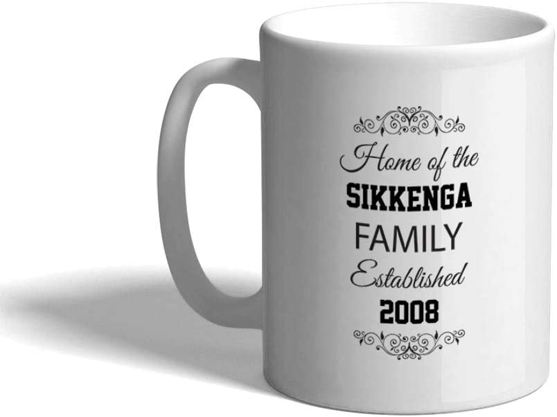Ceramic Custom Coffee Mug 11 Ounces Home Address Family Sign Housewarming White Tea Cup Entryway