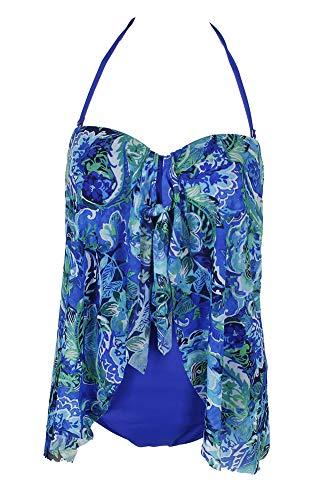 LAUREN RALPH LAUREN Calypso Ikat Bandeau Flyaway One-Piece Swimsuit12, ()