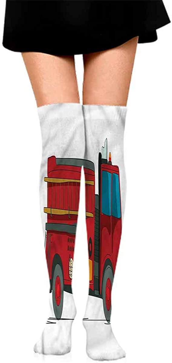 a Socks casual male Fire Truck,Emergency Icons Rescue,socks with grips for women and wings