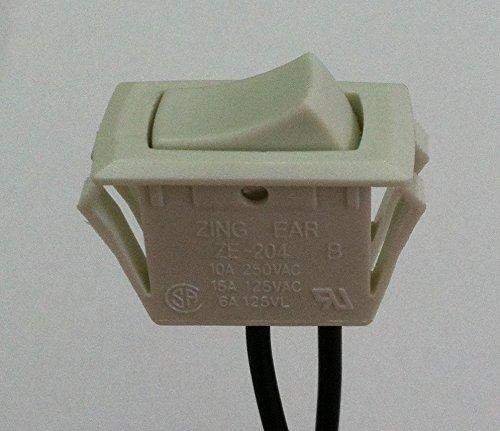on off rocker switch for under cabinet fixture zing ear ze 204 rh amazon com under cabinet led light switch