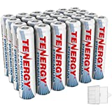 Tenergy 24 Pack Premium Rechargeable AAA Batteries, High Capacity 1000mAh NiMH AAA Batteries, AAA Cell Battery with 6 AAA Holders
