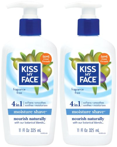 Fragrance Kiss Free Vitamins (Kiss My Face Vitamin Enriched Moisture Shave with Essential Oils, Fragrance Free - 11 oz - 2 pk)