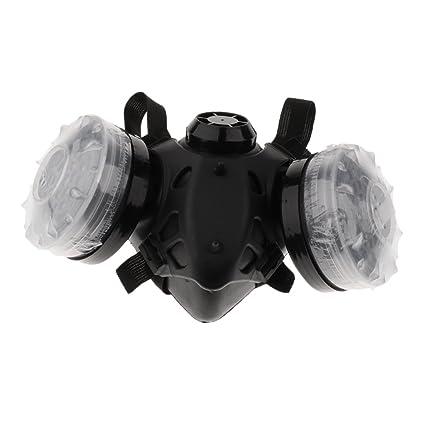 Baoblaze Máscara Respiatoria de Gas de Silicona Reutilizable Protector de Seguridad de Pintura de Filtro Anti