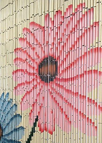 BeadedString Hand Painted Natural Bamboo Wood Beaded Curtain