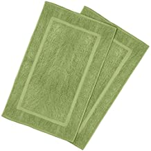 Luxury Hotel-Spa Tub-Shower Bath Mat Floor Mat - (2 Pack, Sage Green, 21 Inch by 34 Inch) - 100 Percent Ringspun Cotton, Luxury Size, Maximum Absorbency, Machine Washable - by Utopia Towels
