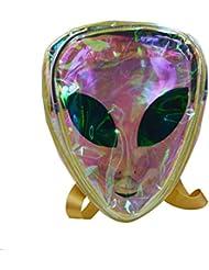 Mily Alien Logo Hologram Backpack Transparent Backpack Casual Bag