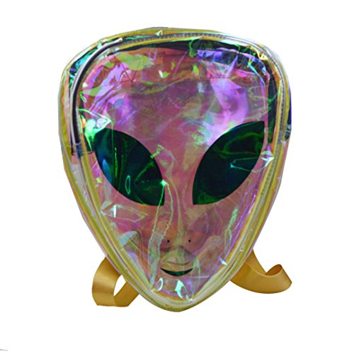 Transparent AiSi Logo Green Backpack Bags Shoulder Womens Holographic Alien wxHZfw