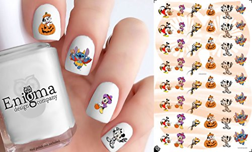 (Mickey & Minnie Halloween Accessories (Clear Water-Slide Nail)