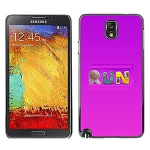 GagaDesign Phone Accessories: Hard Case Cover for Samsung Galaxy Note 3 - Run